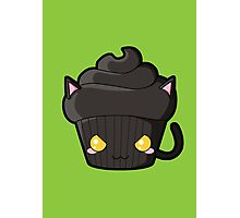 Spooky Cupcake - Black Cat Photographic Print