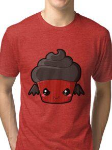 Spooky Cupcake - Vampire Tri-blend T-Shirt