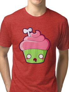 Spooky Cupcake - Zombie Tri-blend T-Shirt