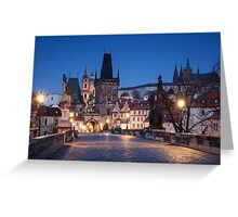 Prague Blues Greeting Card