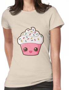 Happy Cupcake Womens Fitted T-Shirt