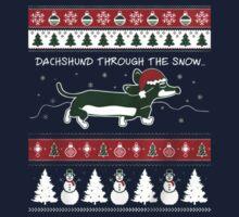 Dachshund through the snow-dachshund xmas by HueAnh