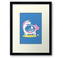 The Truth About Unicorns [Blue] Framed Print