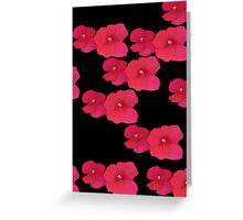 Two red blossoms repeated Greeting Card