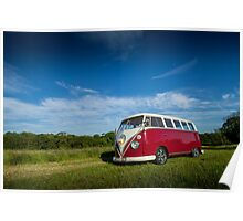 Classic Volkswagon Campervan no. 2 Poster