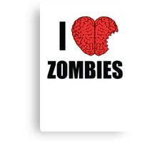 I Shotgun Zombies/ I Heart Zombies  Canvas Print