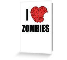I Shotgun Zombies/ I Heart Zombies  Greeting Card