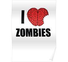 I Shotgun Zombies/ I Heart Zombies  Poster