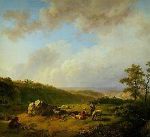 Barend Cornelis Koekkoek Landschap bij opkomende regenbui by Adam Asar