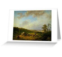 Barend Cornelis Koekkoek Landschap bij opkomende regenbui Greeting Card