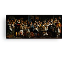 Bartholomeus van der Helst Banquet of the Amsterdam Civic Guard in Celebration of the Peace of Münster Canvas Print