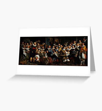 Bartholomeus van der Helst Banquet of the Amsterdam Civic Guard in Celebration of the Peace of Münster Greeting Card