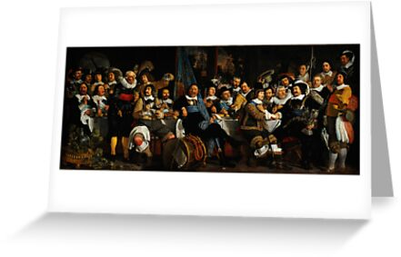 Bartholomeus van der Helst Banquet of the Amsterdam Civic Guard in Celebration of the Peace of Münster by Adam Asar