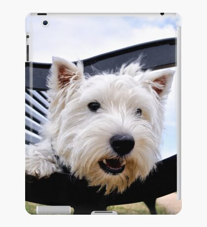 Westie, west highland terrier, Bella - just sayin', prints and gifts iPad Case/Skin