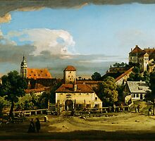 Bernardo Bellotto   Pirna  The Obertor from the South (1753-1756 or the late 1760s) by Adam Asar
