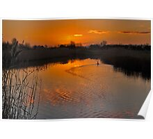 Sunset in Renesse Poster