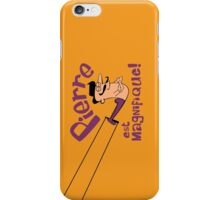 Pierre est Magnifique - cartoon drawing of trapeze artist with handsome mustache iPhone Case/Skin
