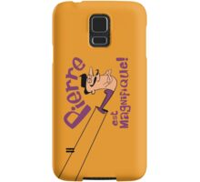 Pierre est Magnifique - cartoon drawing of trapeze artist with handsome mustache Samsung Galaxy Case/Skin
