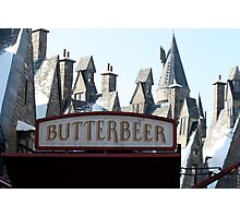 Butterbeer in Hogsmeade Photographic Print