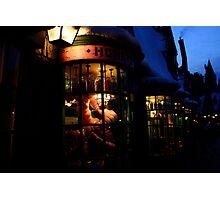 Hogsmeade at Night Photographic Print