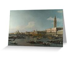 Canaletto    Venice The Basin of San Marco on Ascension Day (c. 1740) Greeting Card
