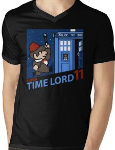 Super Time Lord 11 Mens V-Neck T-Shirt