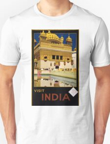 Vintage India Travel Poster Advert T-Shirt