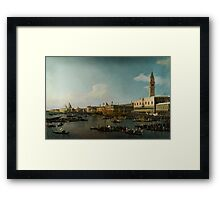 Canaletto  Venice The Basin of San Marco on Ascension Day Framed Print