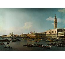 Canaletto  Venice The Basin of San Marco on Ascension Day Photographic Print