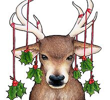Stag with Holly by srw110
