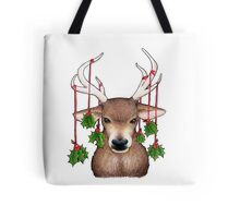 Stag with Holly Tote Bag
