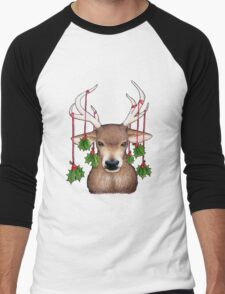 Stag with Holly Men's Baseball ¾ T-Shirt