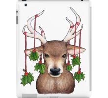 Stag with Holly iPad Case/Skin