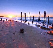 Port Willunga Sunset by Ray Warren