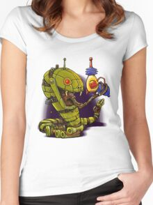 RobotReptileRaygun Women's Fitted Scoop T-Shirt