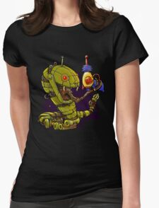 RobotReptileRaygun Womens Fitted T-Shirt