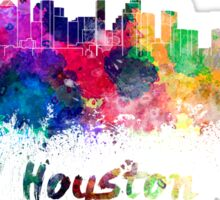Houston skyline in watercolor Sticker