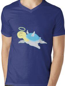 Angel Turtle Mens V-Neck T-Shirt