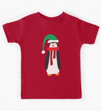 Cute Holiday Penguin Kids Tee
