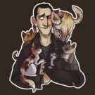 Nine with cats by siins