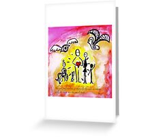 only the heart Greeting Card