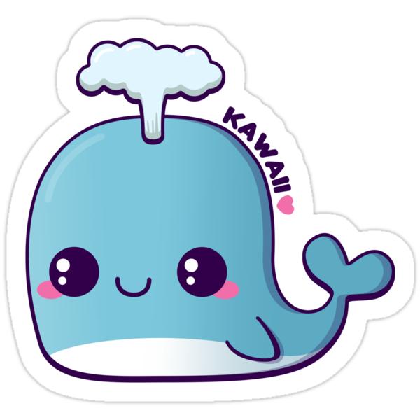 Kawaii Blue Whale Stickers By Pai thagoras Redbubble