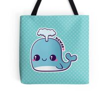 Kawaii Blue Whale Tote Bag