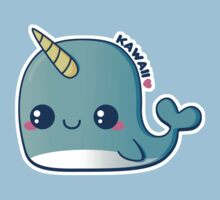 Kawaii Blue Narwhal Kids Tee
