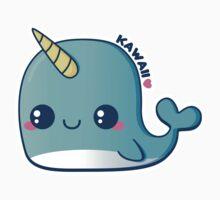 Kawaii Blue Narwhal Baby Tee