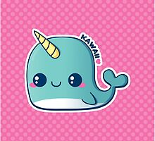 Kawaii Blue Narwhal by pai-thagoras
