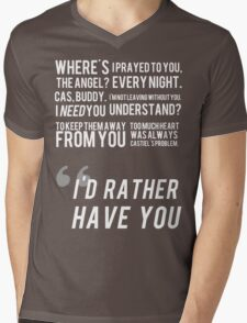 I'D RATHER HAVE YOU Mens V-Neck T-Shirt
