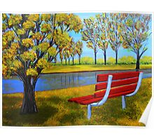 The red bench  Poster