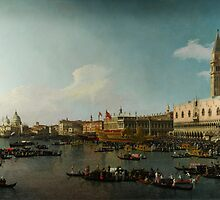 Canaletto Venice The Basin of San Marco on Ascension Day by Adam Asar