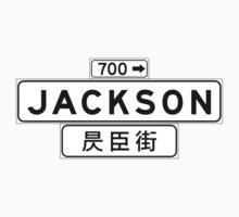 Jackson St., San Francisco Street Sign, USA One Piece - Short Sleeve